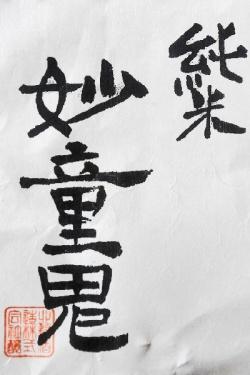 猩々 妙童鬼(みょうどうき) 純米無濾過生原酒  29BY原料米:奈良県産・きぬひかり100% 精米歩合:68% アルコール度:17°
